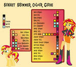 Sunset Shimmer Colour Guide by Neighthirst