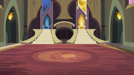 Pony Sisters Old Castle Throne Room Vector.
