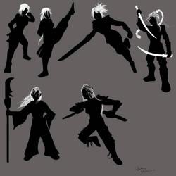 Warrior Girl Silhouette (Kreroni Fenzon)