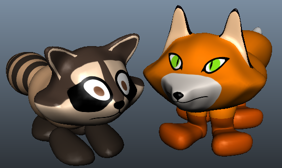 Fox and Racoon Rigs by Deathirst