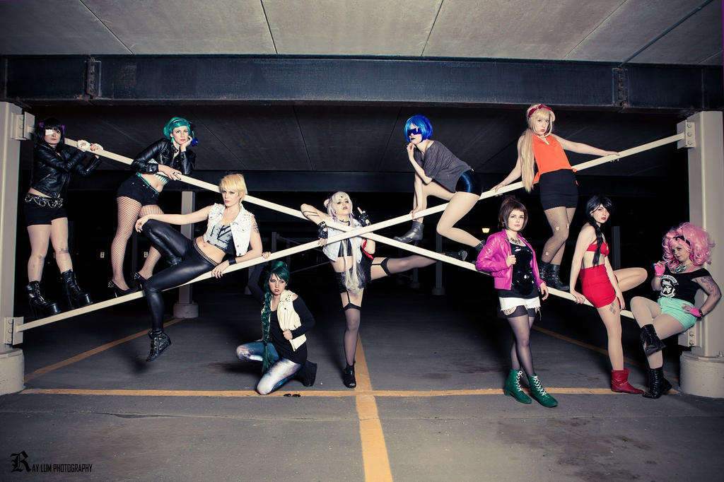 Sailor Moon Biker Gang by gillykins