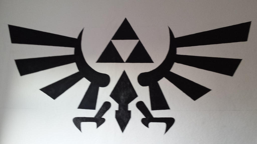 The Legend Of Zelda Triforce Wall Painting By MegaBen92 On