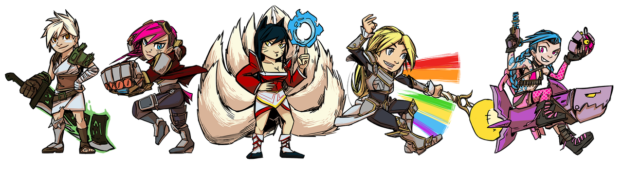 Wave 1 League of Legends Charms by PumaDriftCat