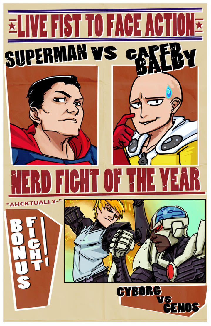 Supes vs Saitama by PumaDriftCat