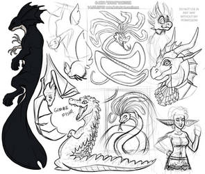 bunch of sketches 5 by RRRAX