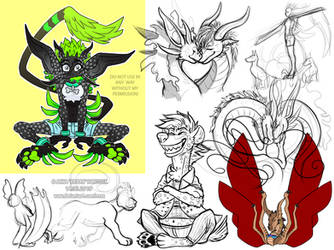 bunch of sketches and WIPs 6 by RRRAX