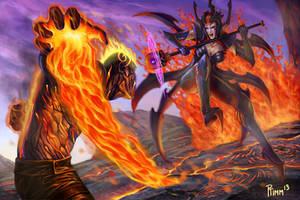 League of Legends: Brand vs Elise by PTimm