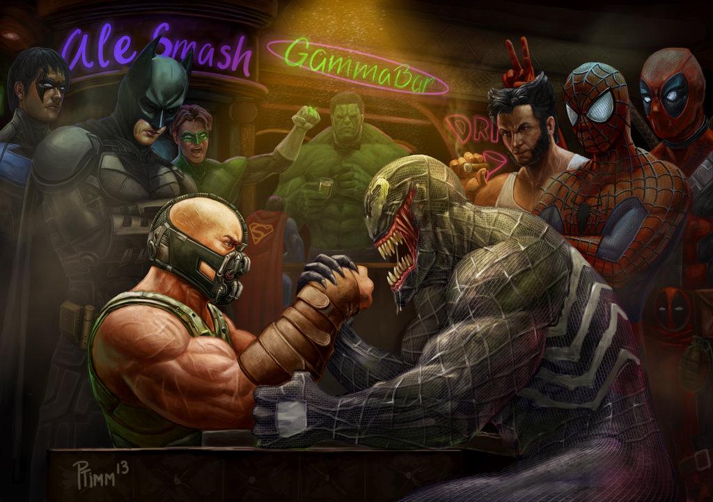 Bane vs Venom: Wrestling Addiction by PTimm