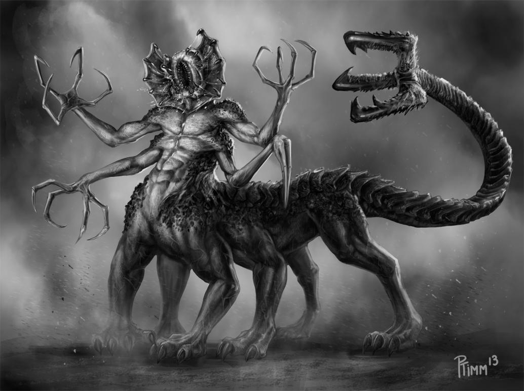 Kyron demon centaur concept by ptimm on deviantart for Domon pictures
