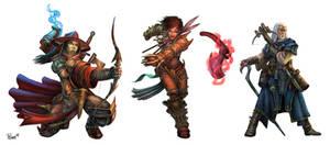 Paizo Ranged Tacticts Toolbox Characters