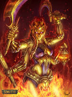 Official Smite Kali Gold Skin by PTimm