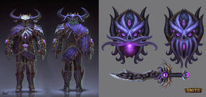 Abyssal Knight Ares Concept by PTimm