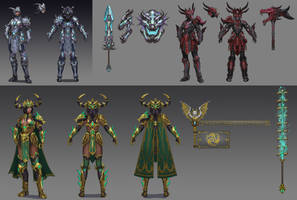 T5 Bellona Dragon Skin Concept Sketches