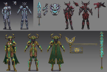 T5 Bellona Dragon Skin Concept Sketches by PTimm