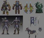 Fat Loki and Slavic Hachiman Concept Sketches