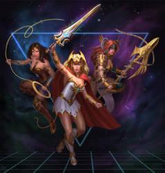 She-Ra, Woner Woman, Angela by PTimm