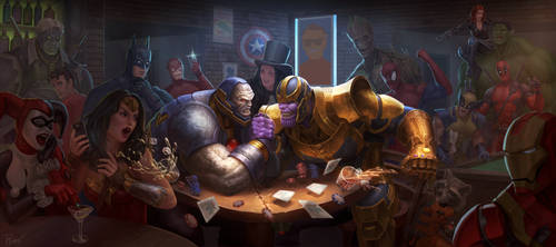 Thanos vs Darkseid by PTimm