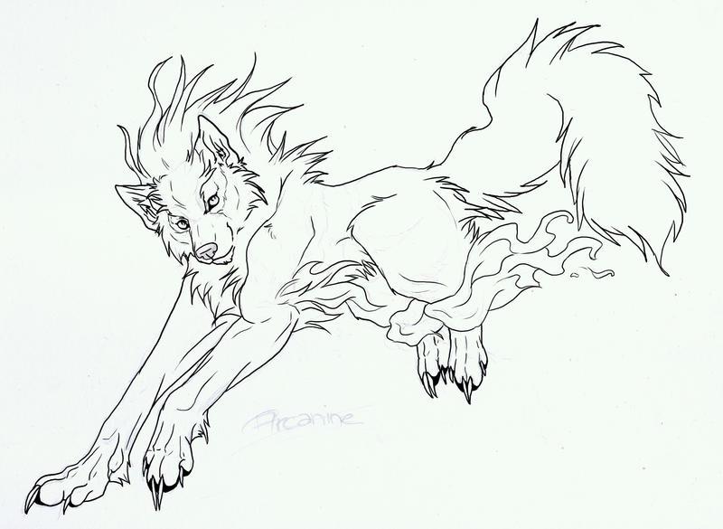 Spirit Wolves Drawings