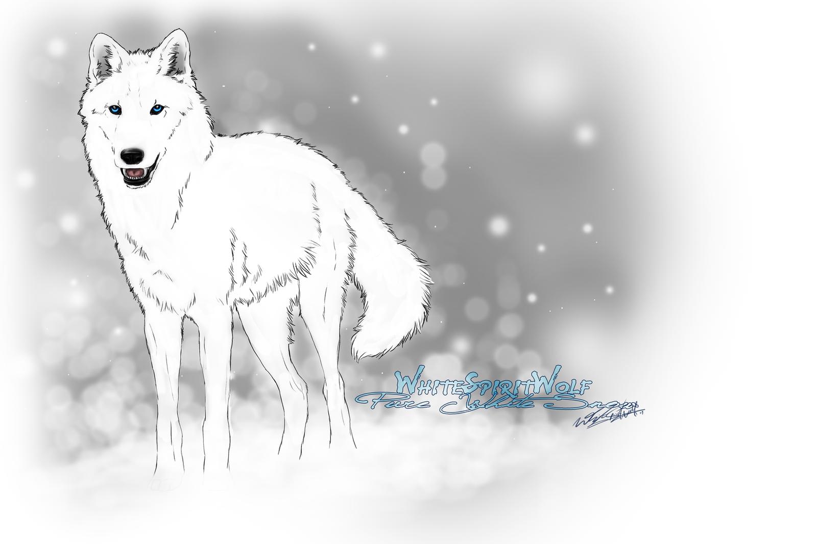 Pure white werewolf - photo#10