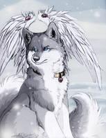 ..Wolf December.:.first Snow.. by WhiteSpiritWolf