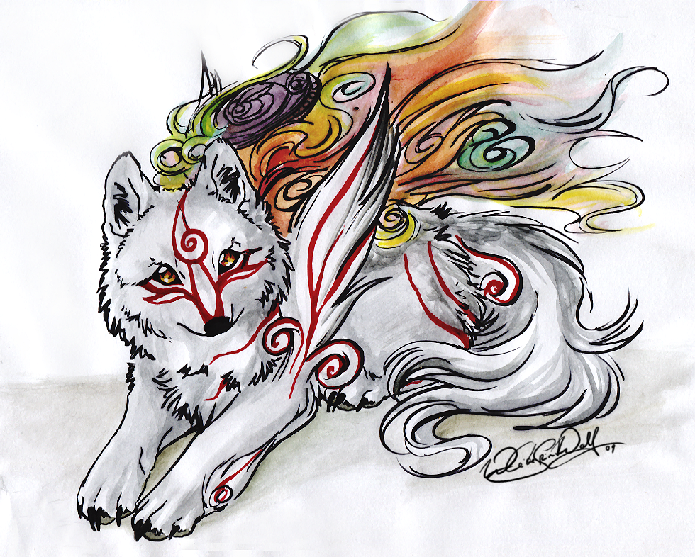 Okami.::.Shiranui by WhiteSpiritWolf