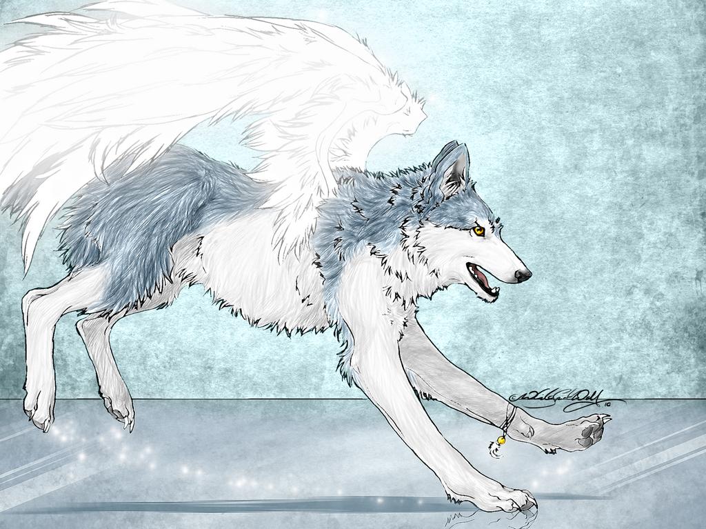 winged ice wolf