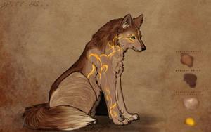 .:yellowish wolf:. by WhiteSpiritWolf