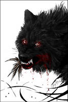 Prize: Black Wolf - kinpouju - by WhiteSpiritWolf
