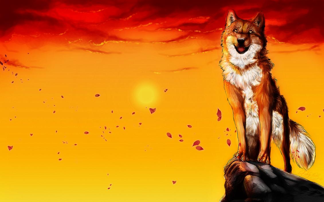 .:Sunset Magic:. by WhiteSpiritWolf
