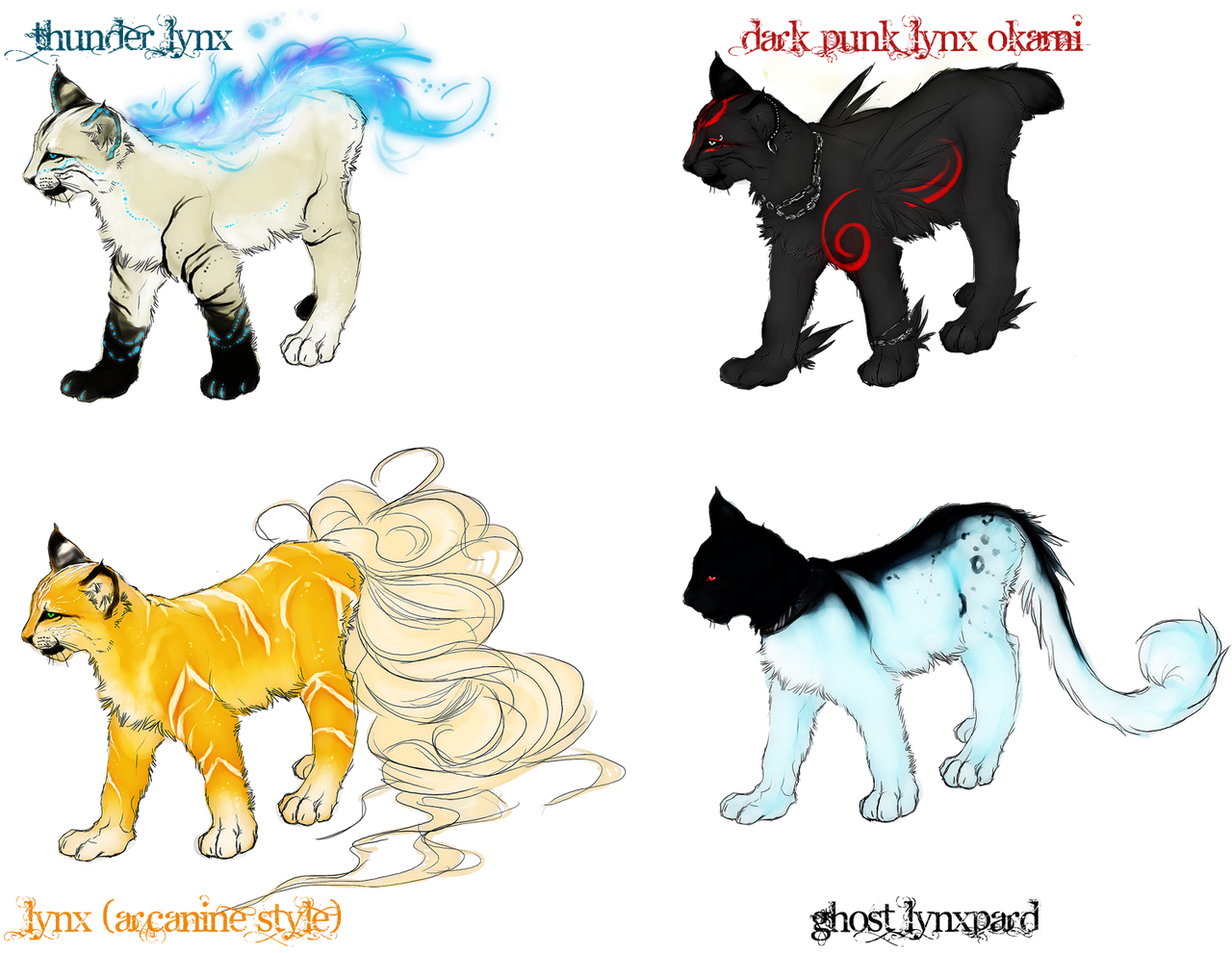 :Lynx Adoptables: by =WhiteSpiritWolf on deviantART