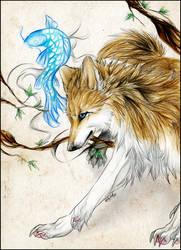 .:Wolfy and Fishy:. by WhiteSpiritWolf