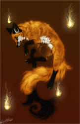 .:Fire Fox:. by WhiteSpiritWolf