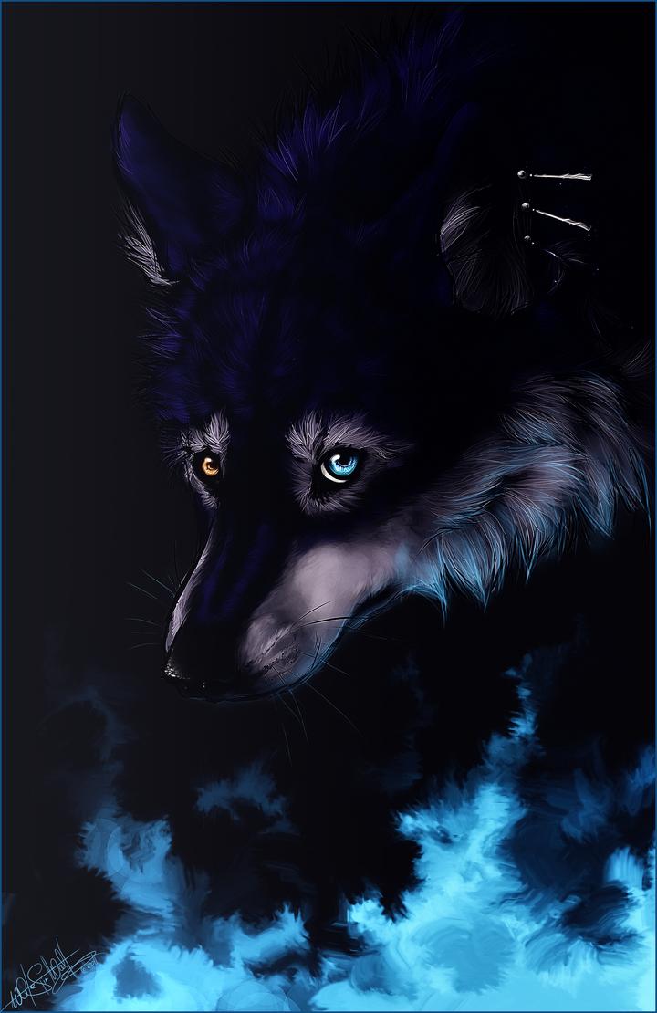 blue fire by whitespiritwolf on deviantart