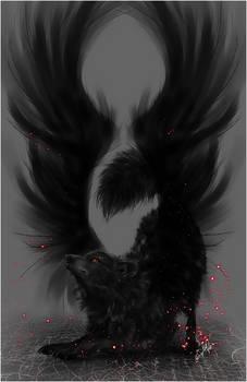.:Black Winged Wolf:. by WhiteSpiritWolf