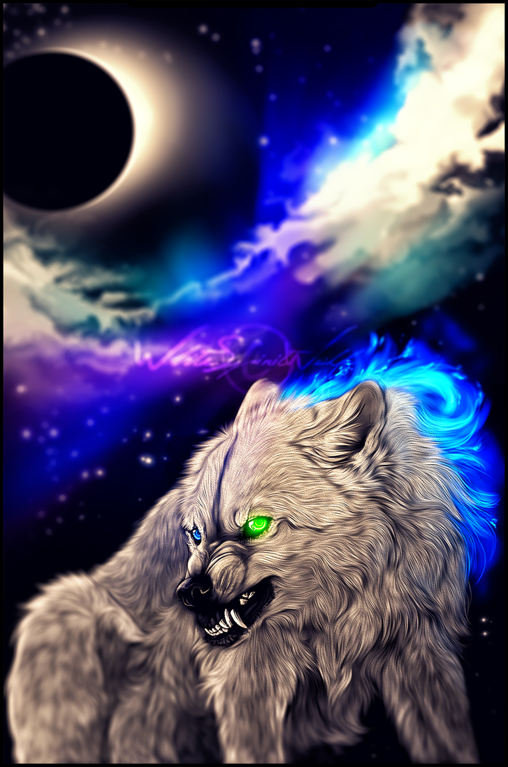 .:Eclipse of the Moon:. by WhiteSpiritWolf