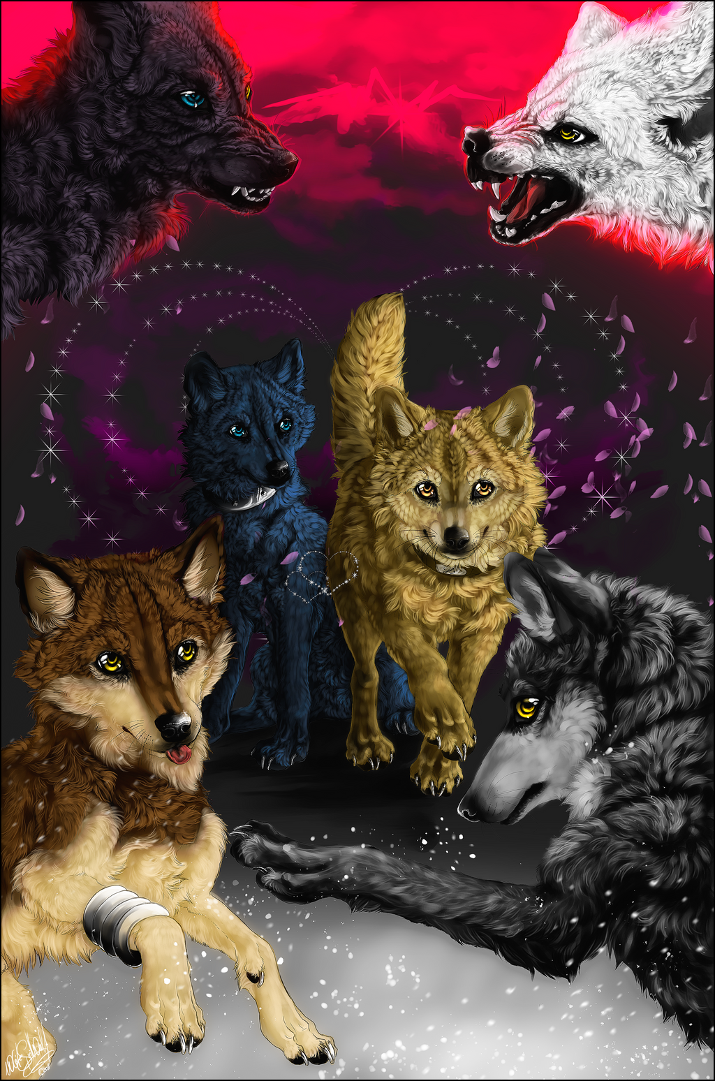 .:Wolfs Rain Chibis:. by WhiteSpiritWolf