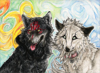 ...like fire and ice... by WhiteSpiritWolf
