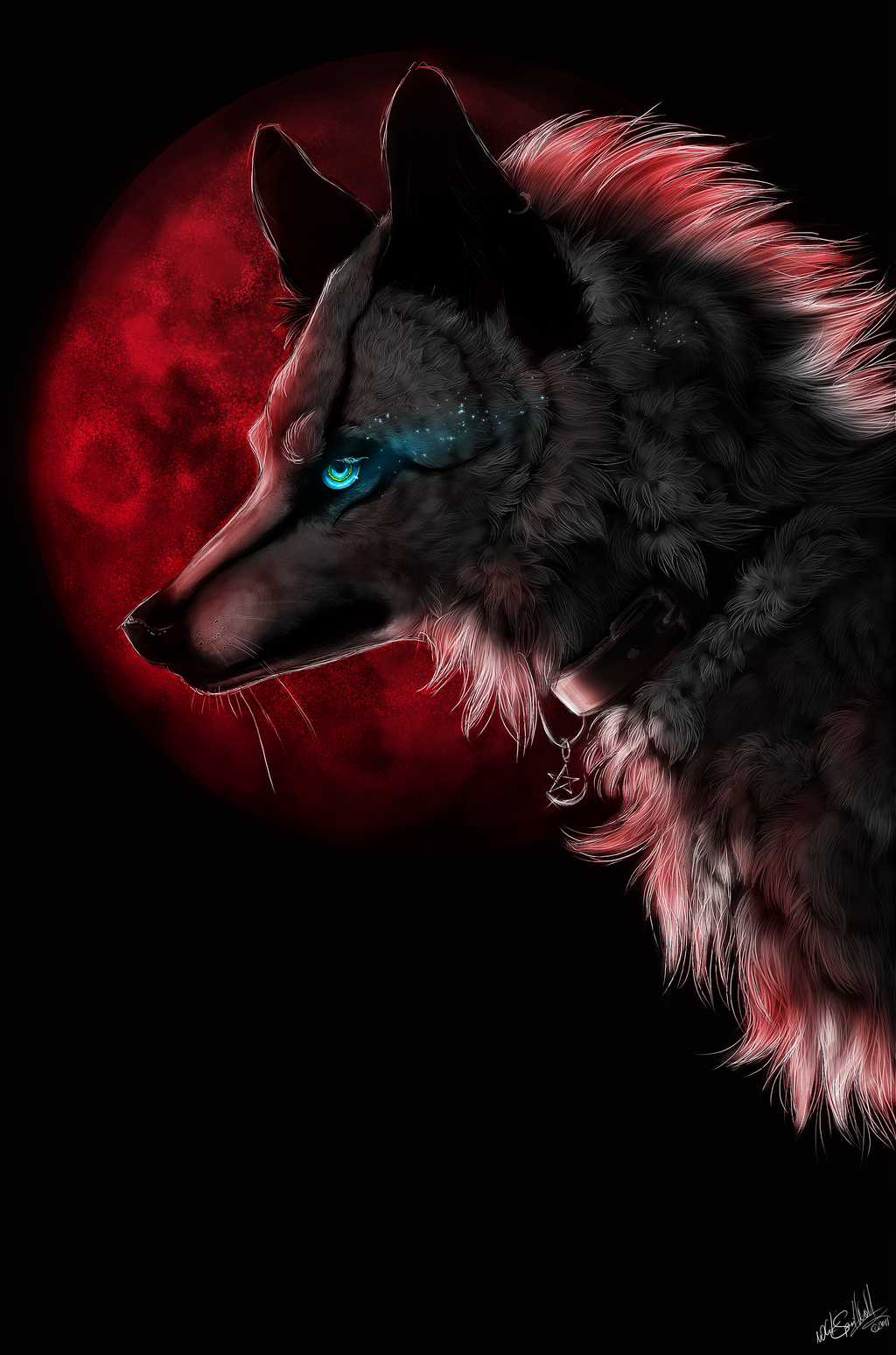 .::Red Moon::. by WhiteSpiritWolf