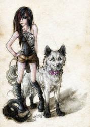Wolf 'n' Human by WhiteSpiritWolf
