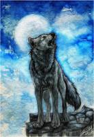 .:Night Howl:. by WhiteSpiritWolf