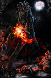 .:Demon Wolf:. by WhiteSpiritWolf