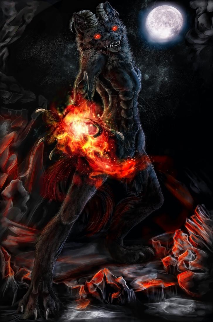 .:Demon Wolf:. by WhiteSpiritWolf on DeviantArt - photo#4