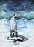 .:White's Night Howl:. by WhiteSpiritWolf
