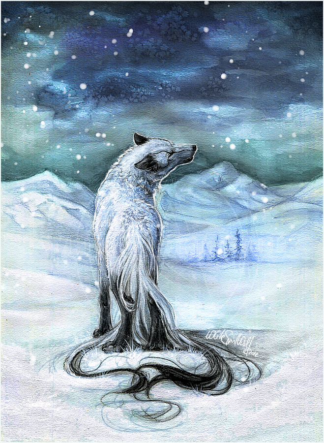 .:White's Night Howl:. by WhiteSpiritWolf