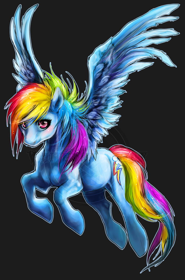 .:Fly High Rainbow Dash:. by WhiteSpiritWolf
