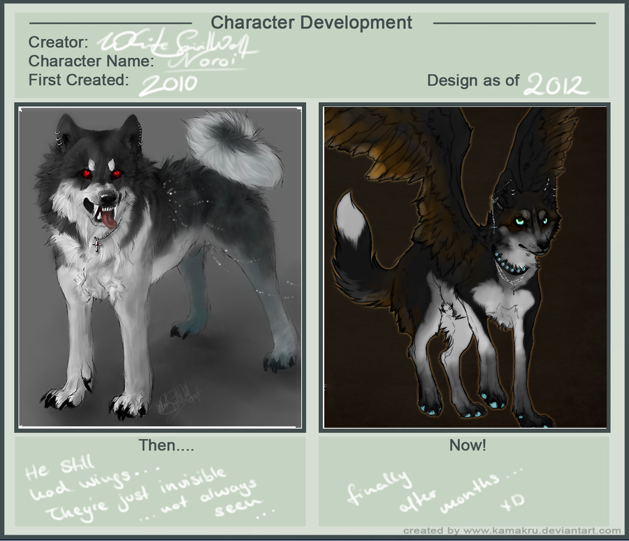 Character Development 3.0 by WhiteSpiritWolf