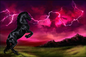 .: Thunderstorm :. by WhiteSpiritWolf