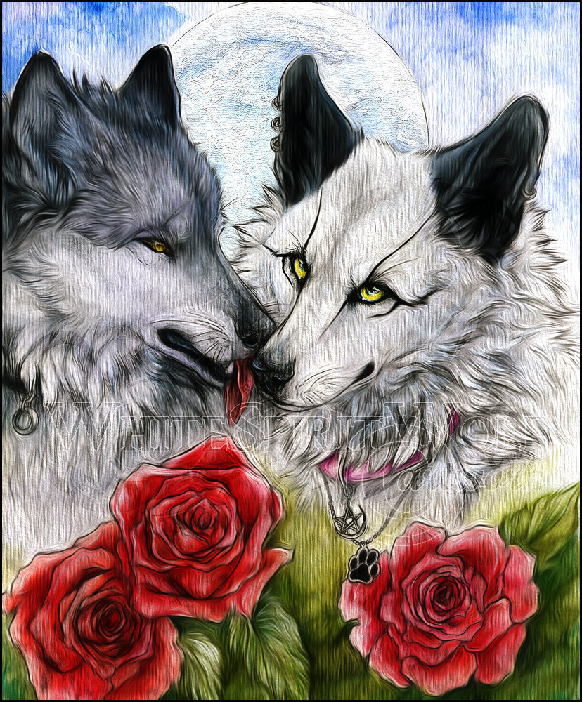 .: Red Roses :. by WhiteSpiritWolf