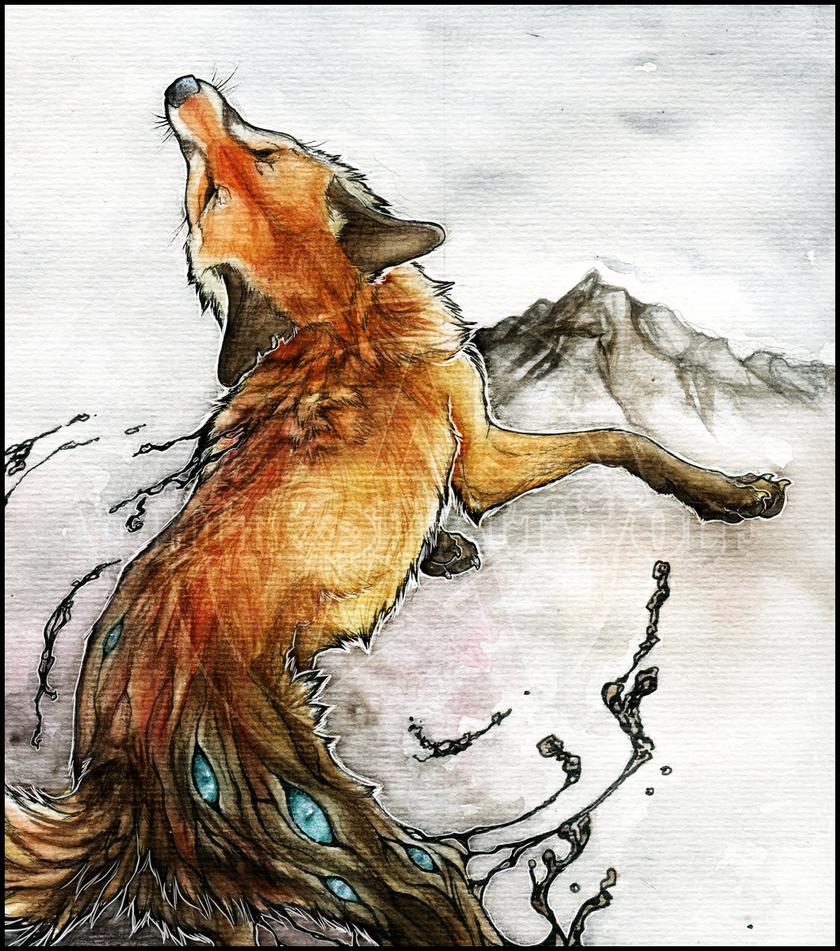 .:Demon Fox:. by WhiteSpiritWolf
