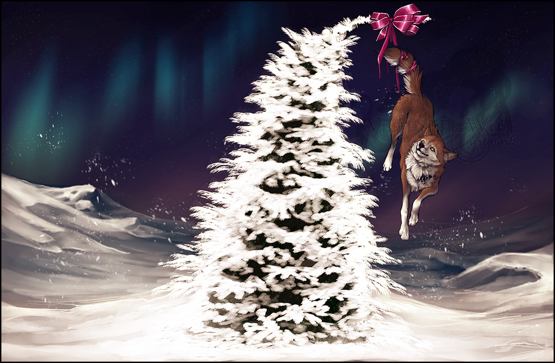 .: Merry Christmas everyone :. by WhiteSpiritWolf